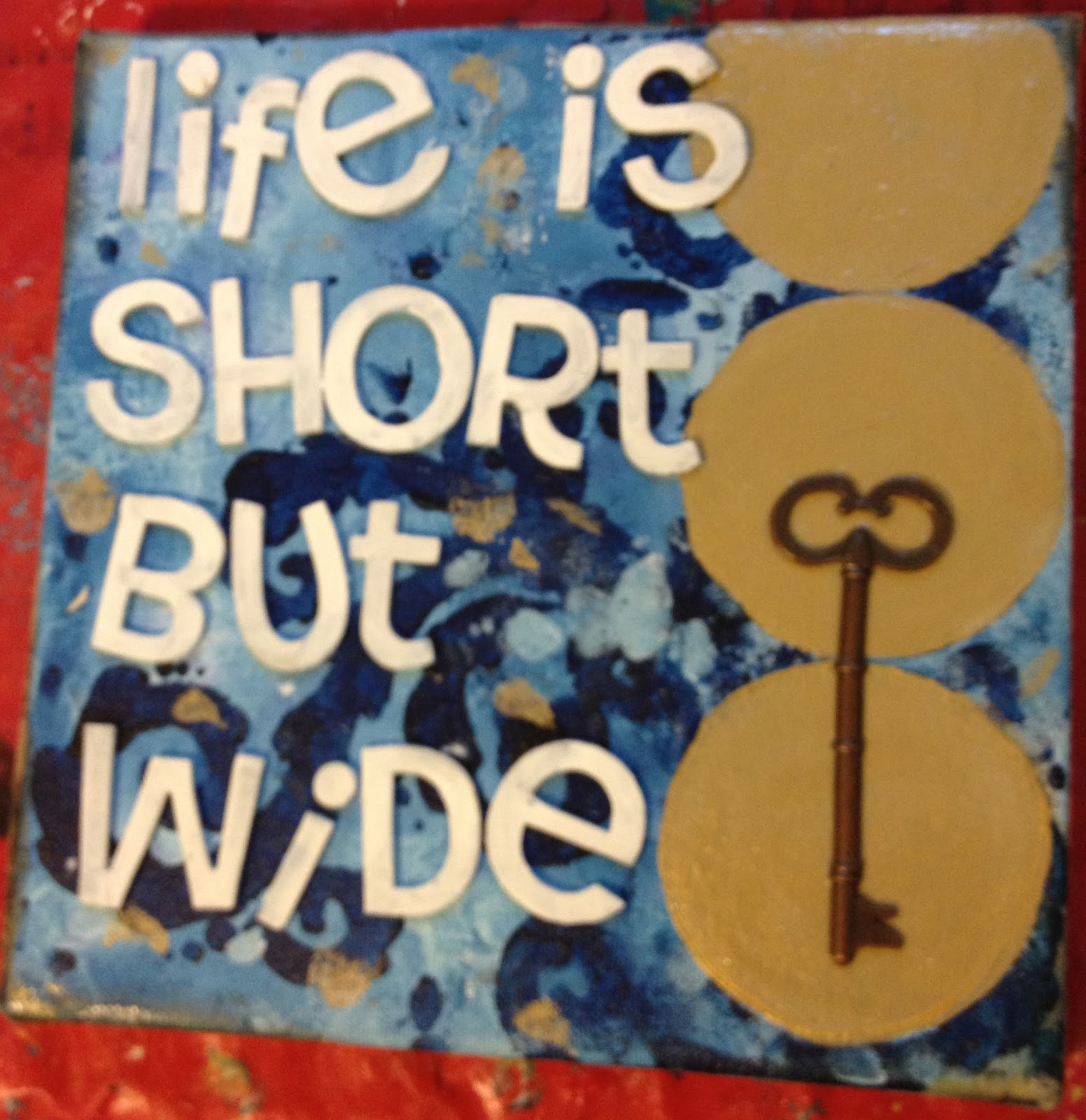Quotes In The Secret Life Of Bees: Amy Carden Creative: Finished Painting: Life Is Short But Wide