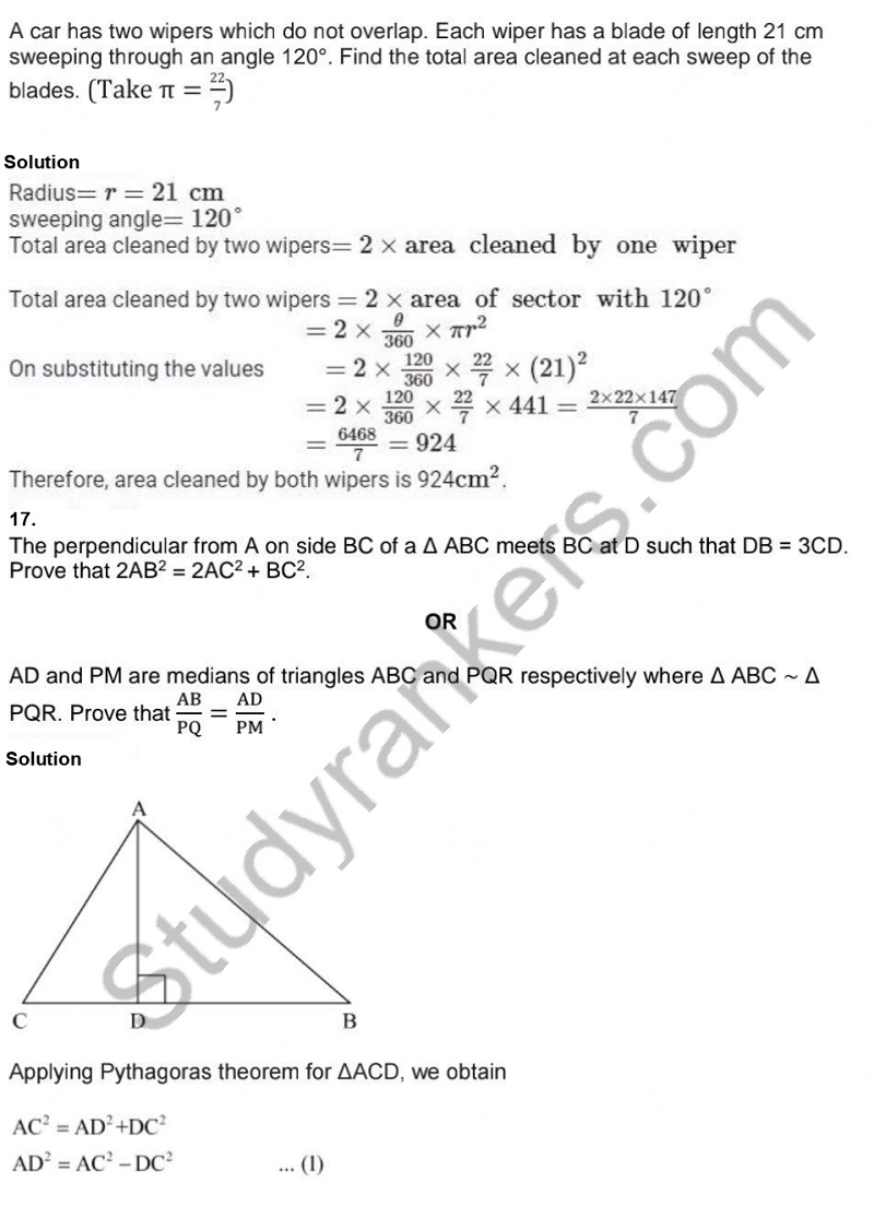 Previous Year Question Paper for CBSE Class 10 Maths 2019 Part 13