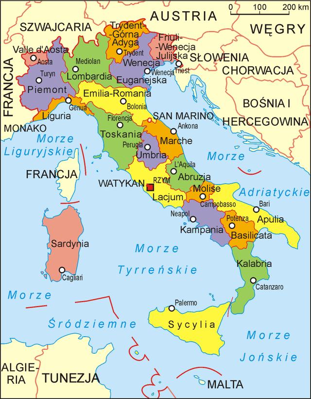 5fa96b00207667 Włochy leżą w południowej części Europy, na półwyspie Apenińskim. Językiem  urzędowym we Włoszech jest język włoski ...