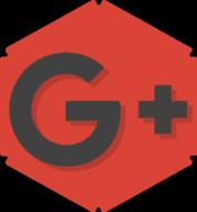 google plus hexagon icon