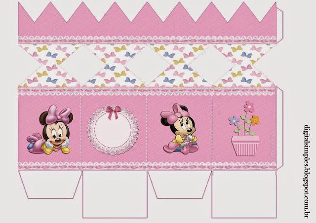 Cajas de Minnie Bebé para imprimir gratis.