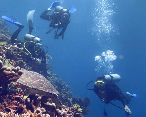 Travel.Tinuku.com Bunaken National Park in Manado, North Sulawesi, wonderful lined islands biota for diving and snorkeling