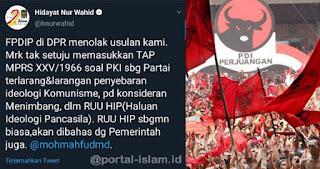 PDIP Tak Setuju Tap MPRS Larangan Komunisme Dimasukkan Dalam RUU Haluan Ideologi Pancasila