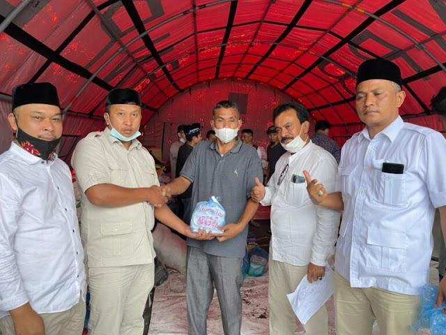 Korban Kebakaran Bener Meriah, Dapat  Bantuan Rp. 50 Juta dari Waketum Gerindra Pusat