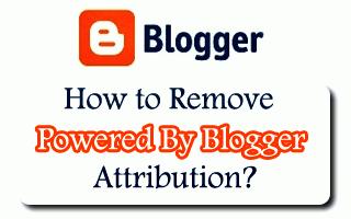 """Cara menghilangkan Teks """"Diberdayakan Oleh Blogger"""" pada Blog"""