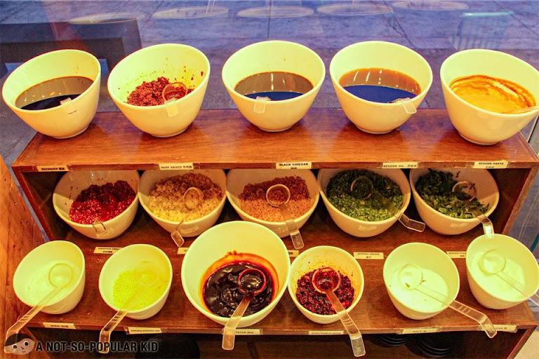 Sauce and condiments in One Pot Restaurant, Shore Residences, Mall of Asia Complex