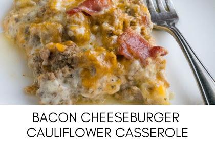 Bacon Cheeseburger Cauliflower Casserole