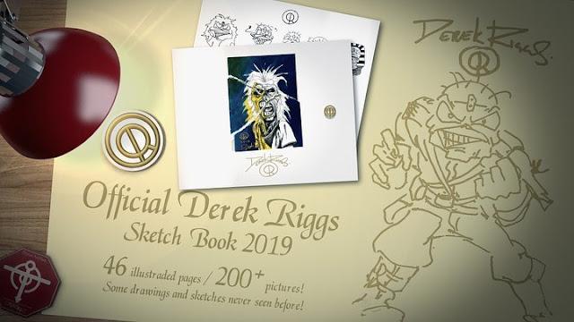 Derek Riggs: catálogo de imagens do Eddie em parceria com designer brasileiro