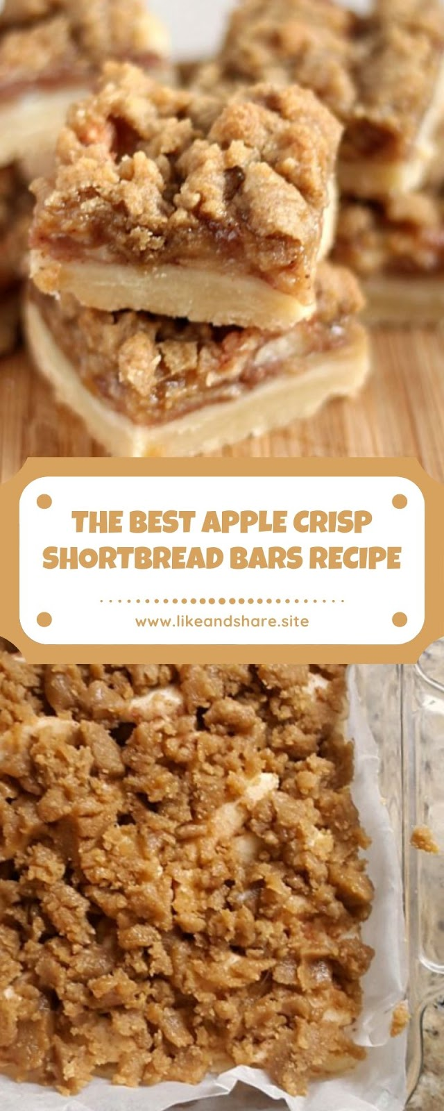 THE BEST APPLE CRISP SHORTBREAD BARS RECIPE