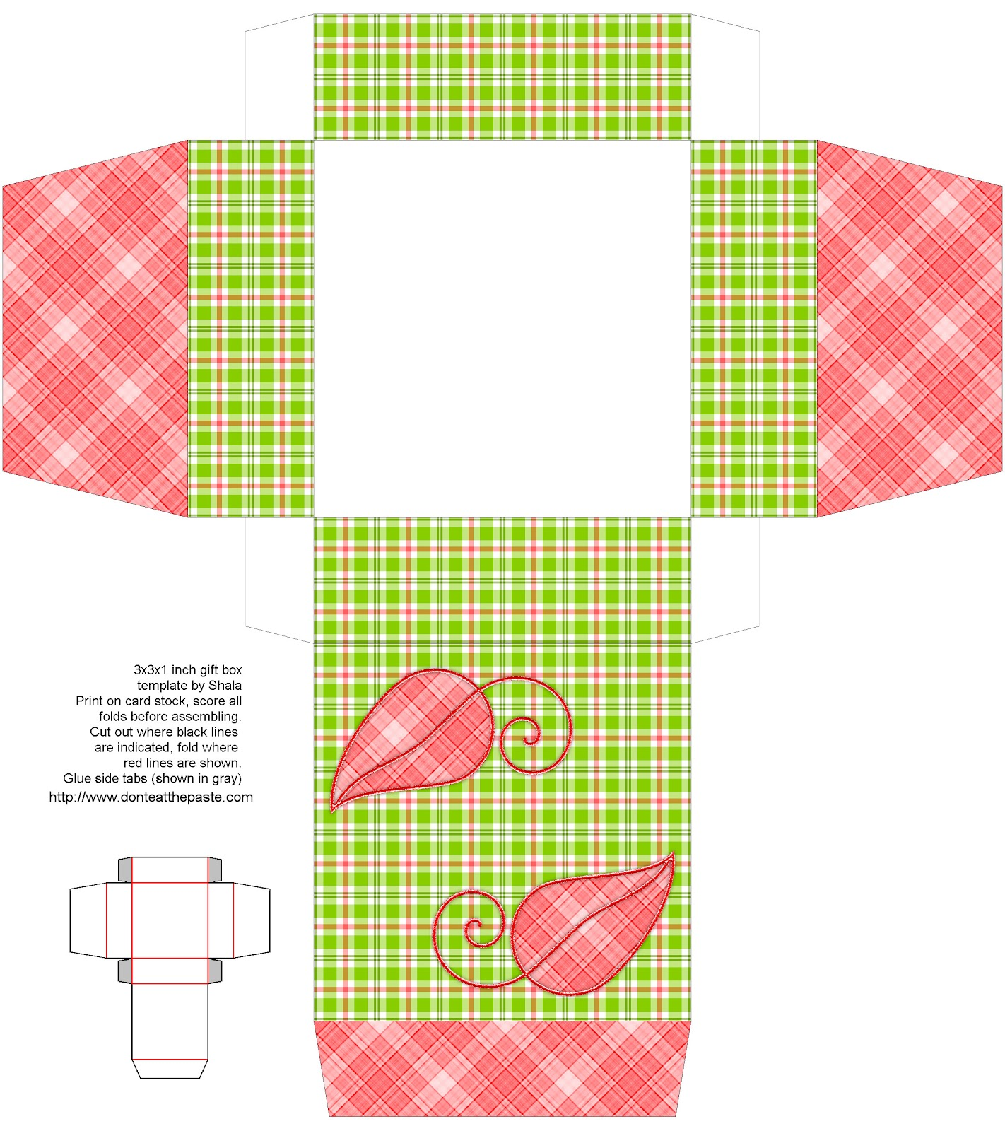 Don T Eat The Paste Plaid Fall Leaves Printable Boxes