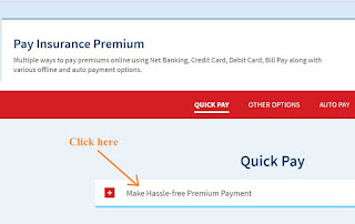click on hassle free hdfc life insurance policy premium payment