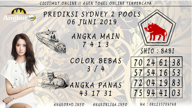 PREDIKSI SYDNEY 2 POOLS 06 JUNI 2019