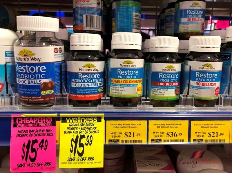 chemist warehouse natures way restore probiotic 30 billion