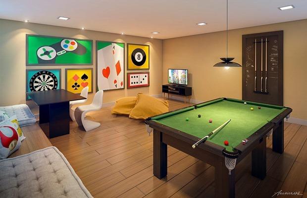 f750cc8643 Decoração retrô em sala de jogos  dicas e inspirações para sua casa ...
