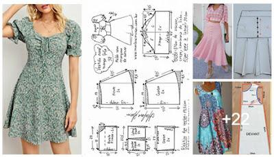 Costura DIY  Medidas y patrones de vestidos