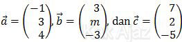 Vektor a, b, dan c, soal vektor UN 2014