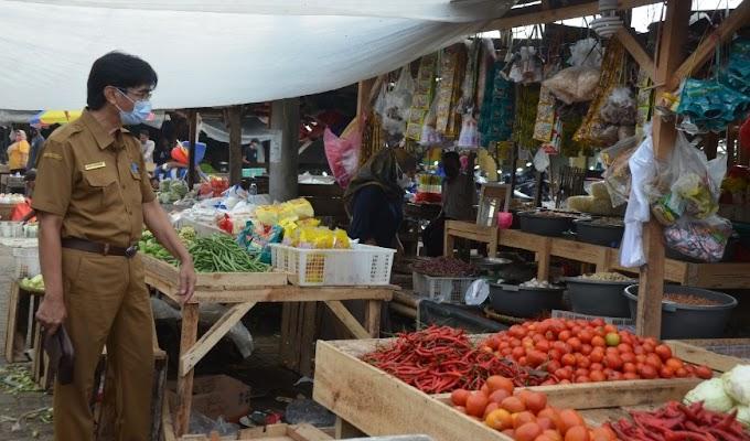 Pasar Kendayakan Kecamatan Kragilan Sudah Ramai Pedagang