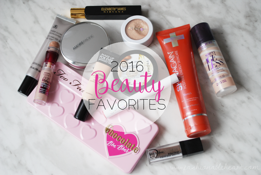 bbloggers, bbloggersca, canadian beauty bloggers, 2016 beauty favorites, products, skincare, perfume, mufe, arbonne, amorepacific, too faced, skinagain, lookybrow, sephora, maybelline, covergirl, colourpop cosmetics, faves, brush cleaner, scar vanish cream, chocolate bon bons, cushion compact, simply ageless, instant age rewind, sheer glow