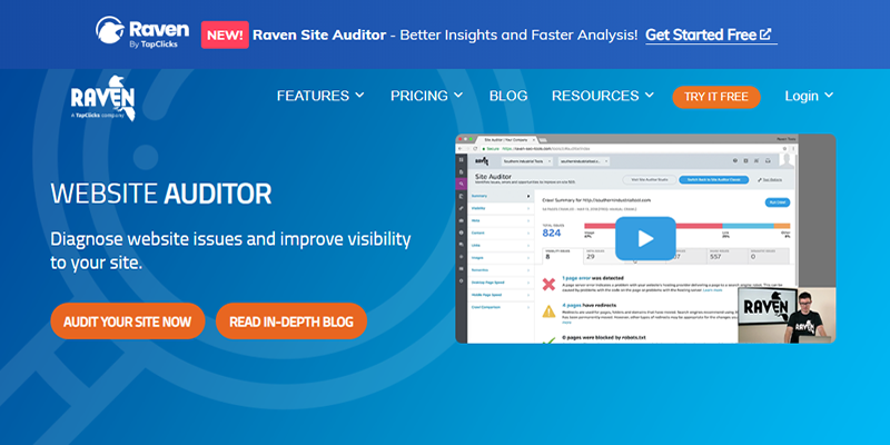 Diagnose website issues and improve your site visibility with Raven Tools
