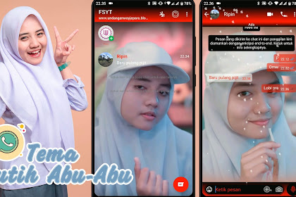 Tema WhatsApp CHERYLL Putih Abu-Abu | MIXWhatsApp TERBARU 2020