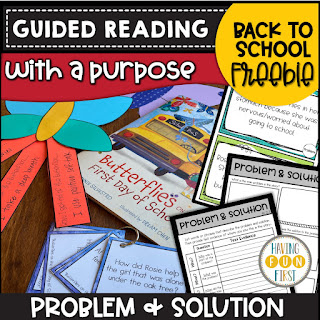 Guided Reading with a Purpose Back to School Freebie