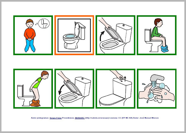 Image result for secuencia pictogramas wc