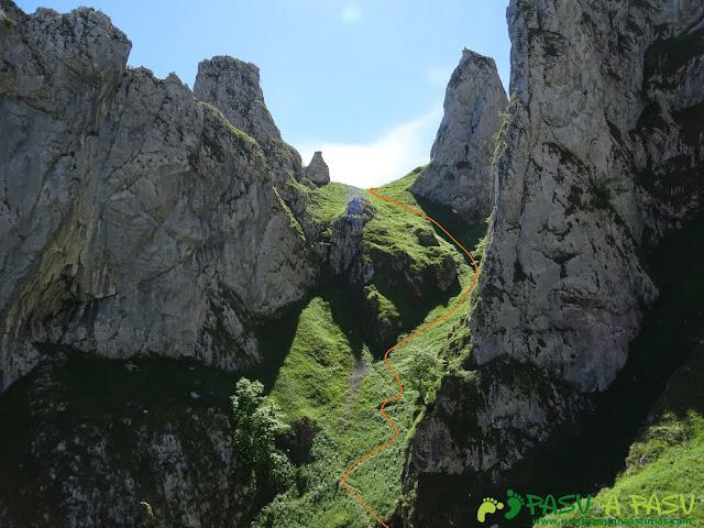 Pasada del Picayo: Atravesando la canal del Infierno