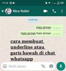 Cara Membuat Teks Underline Di Chat Whatsapp