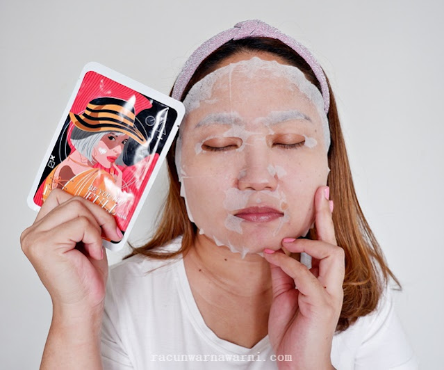 Review Maska Sheet Mask Sunshine Kiss