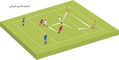 تمرين تكتيكي :الدفاع في وسط الملعب2