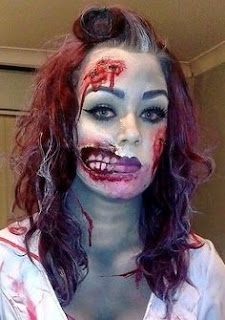 Scary Halloween Zombie Costumes Make Up Ideas For Girl