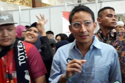 Ditanya Ucapan Selamat ke Jokowi, Sandiaga: Itu Kayak Budaya Barat