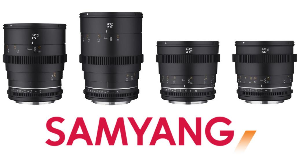 Четыре объектива Samyang VDSLR MK2