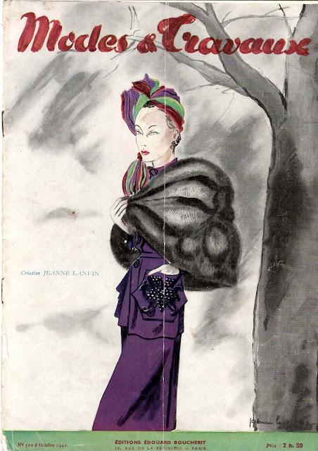 magazine mode et travaux octobre 1942 numéro 520 création jeanne lanvin