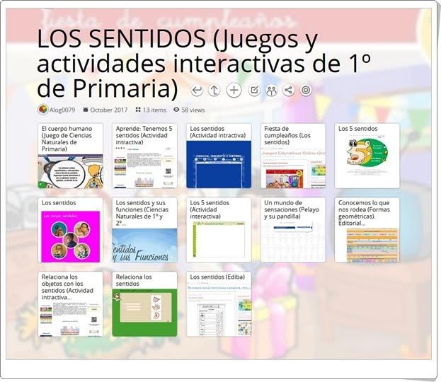 """""""13 Juegos y actividades interactivas para el estudio de LOS SENTIDOS en 1º de Primaria"""""""