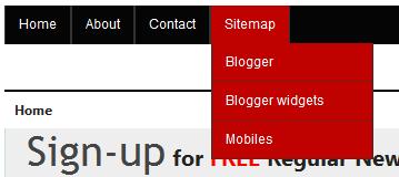 Simple Drop Down Menus In Blogger Blog