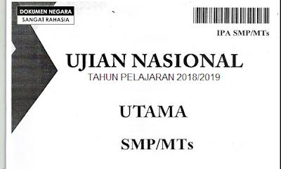Prediksi Soal UNBK SMP 2019 dan Kunci Jawabannya