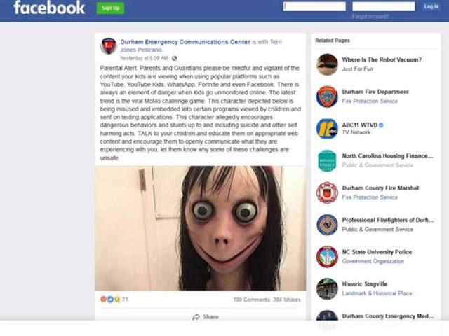 Trend 'Momo Challenge' Ancam Anak-anak Lakukan Tindak Berbahaya dan Mengancam