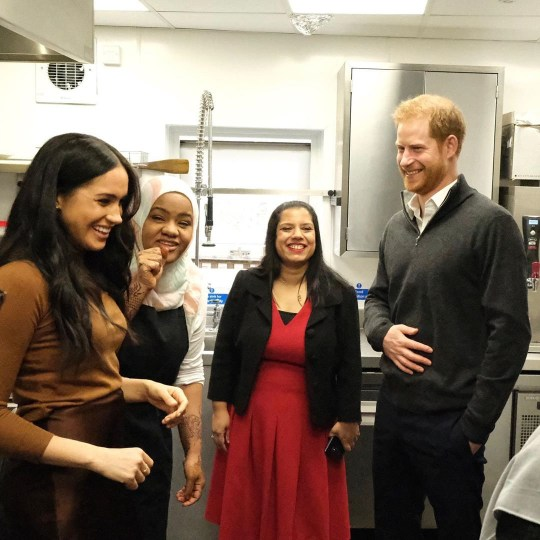 Prince Harry and Meghan Markle post new photos of 'secret' visit to Grenfell kitchen