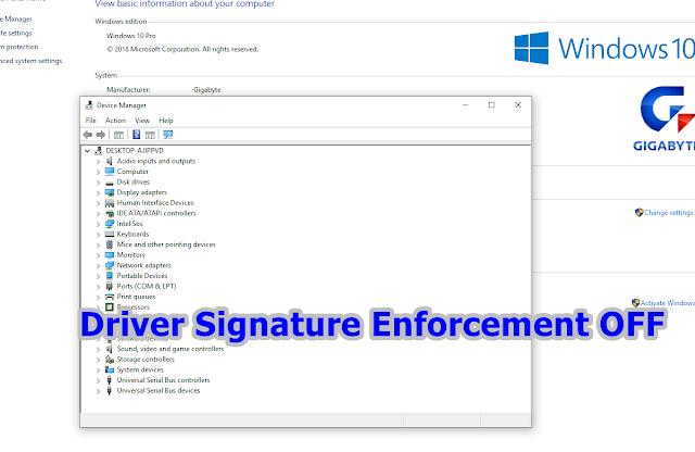Driver Signature Enforcement OFF WIndows 8/10,Menggunakan Aplikasi