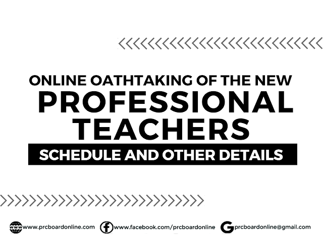New Professional Teachers Online Oathtaking Schedule and Details