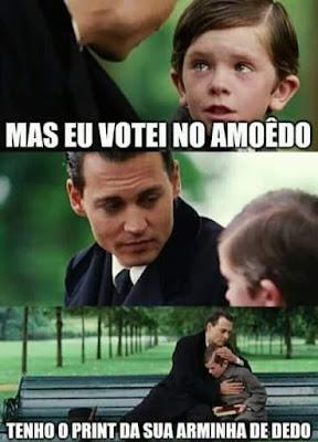 Meme eleitor do Amoêdo. Café com Jornalista