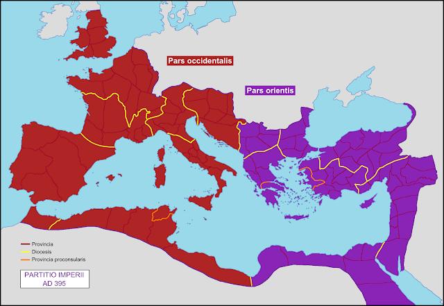 AE2 de Arcadio. (Bass_875 dedit) Partition_of_the_Roman_Empire_in_395_AD