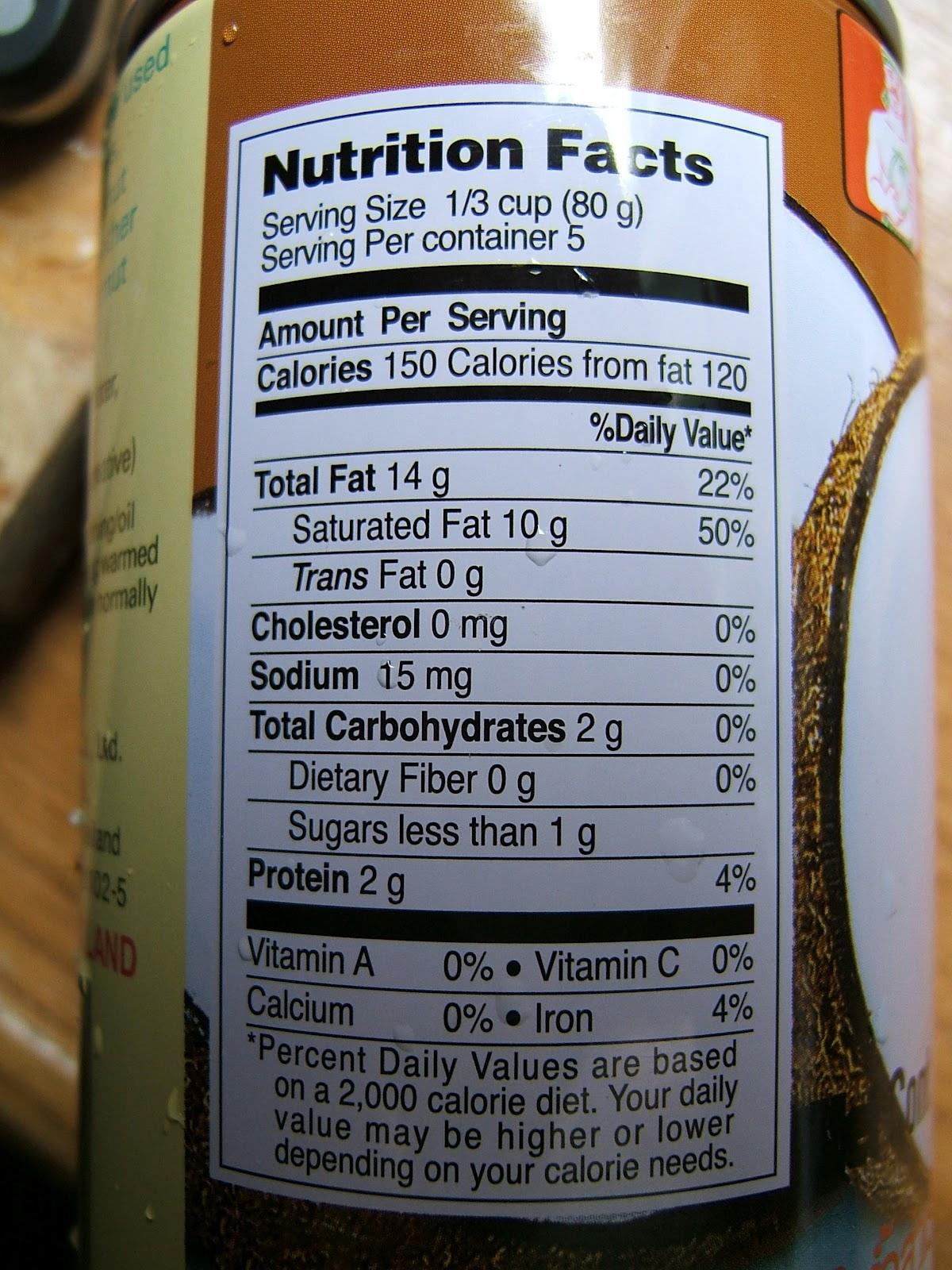 Thai Kitchen Organic Light Coconut Milk Nutrition