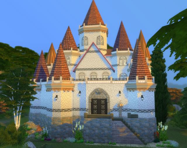 """Замок """"Белый Шоколад"""" для Sims 4 со ссылкой для скачивания"""