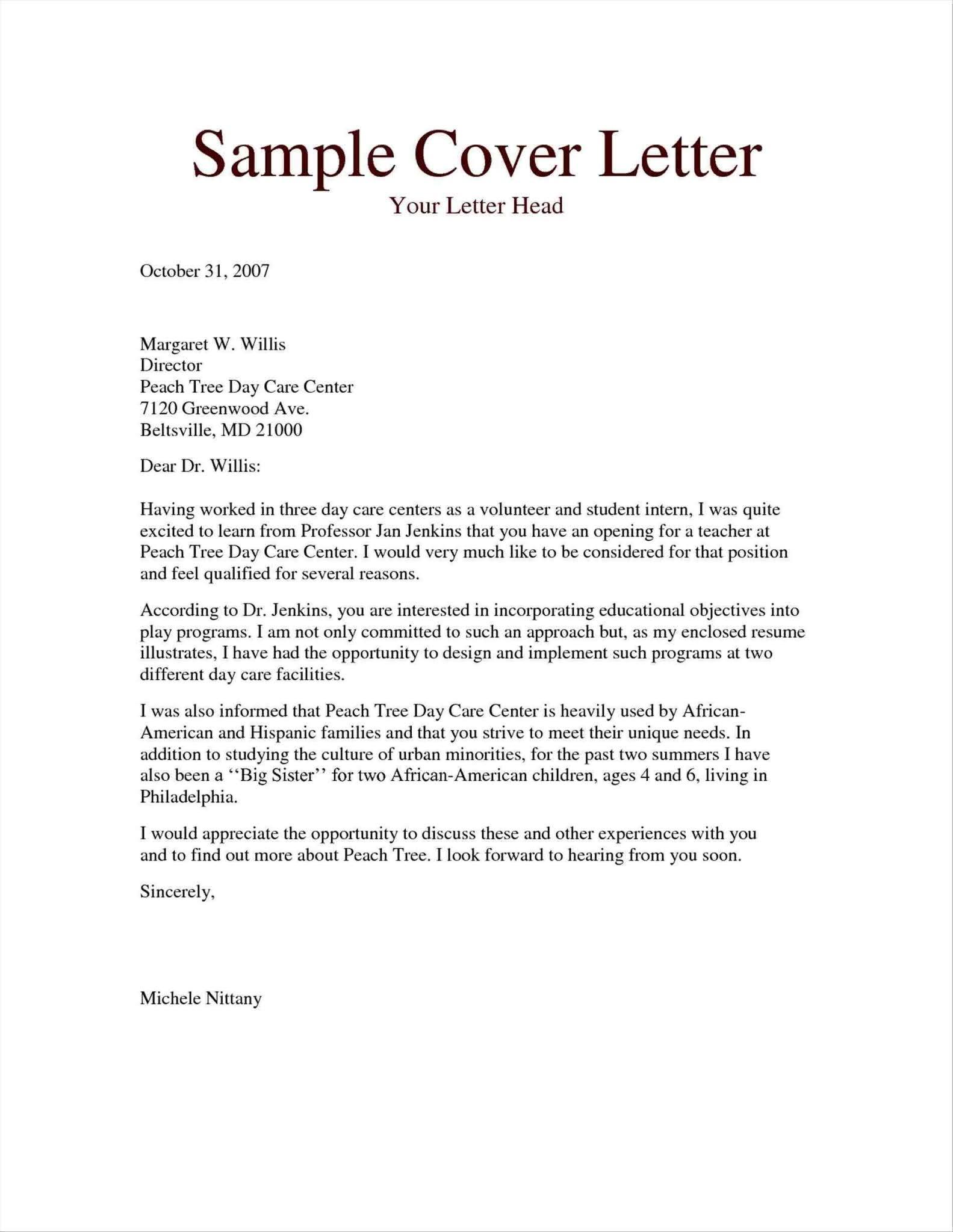 Application Letter For Teacher Job Teacher Cover Letter Teachers Cover Letter Free Job Application Letter Format For Teacher Cover Letter Teaching Of Teachers Cover Letter Wikiresume Com The Below Sample