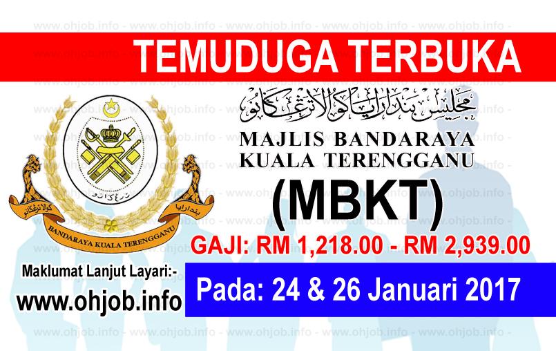 Jawatan Kerja Kosong Majlis Bandaraya Kuala Terengganu (MBKT) logo www.ohjob.info januari 2017