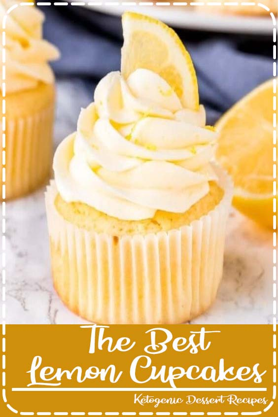These homemade lemon cupcakes are fluffy The Best Lemon Cupcakes