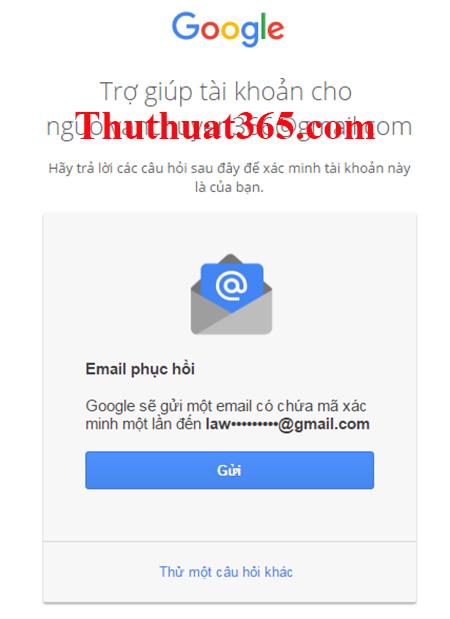 Hướng dẫn thay đổi, tìm lại mật khẩu gmail, tài khoản google-5