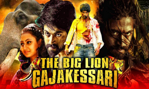 The Big Lion Gajakessari 2020 HDRip 950MB Hindi Dubbed 720p Watch Online Full movie Download bolly4u